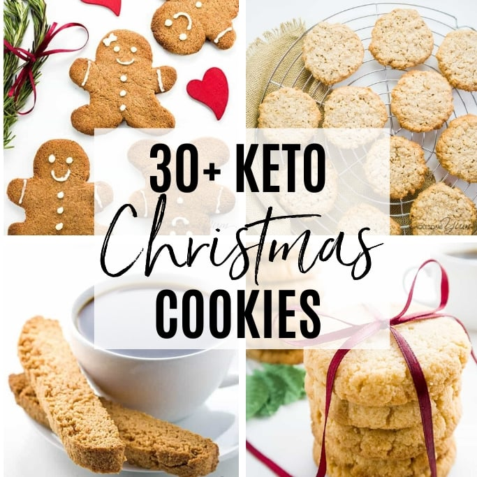 This collection of gluten-free, low carb & sugar-free Christmas cookies recipes has all the variety you could possibly want!