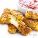 almond flour mozzarella sticks cheese pull