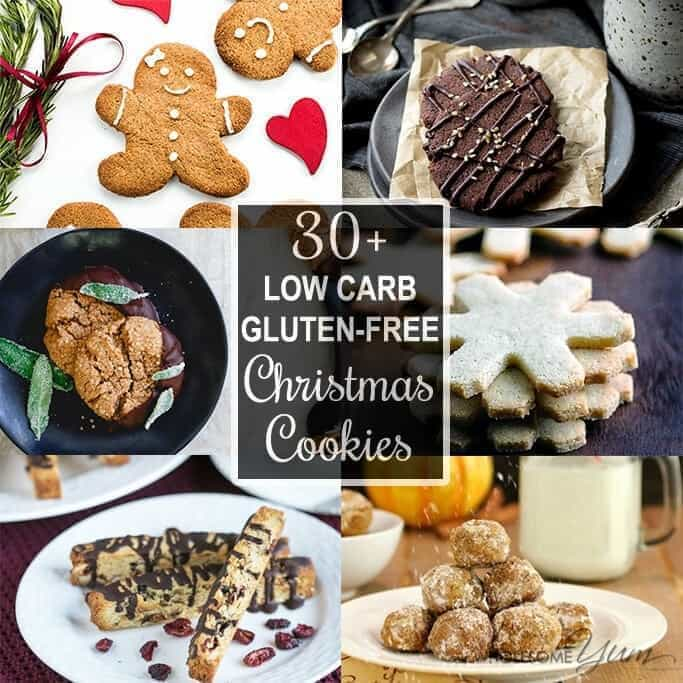 this collection of gluten free low carb sugar free christmas cookies recipes