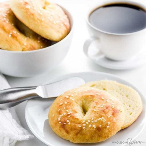 Keto Low Carb Bagels Recipe With Fathead Dough Wholesome Yum
