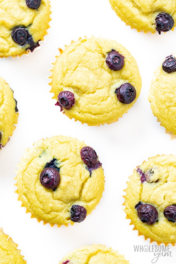 Keto Coconut Flour Blueberry Muffins Recipe