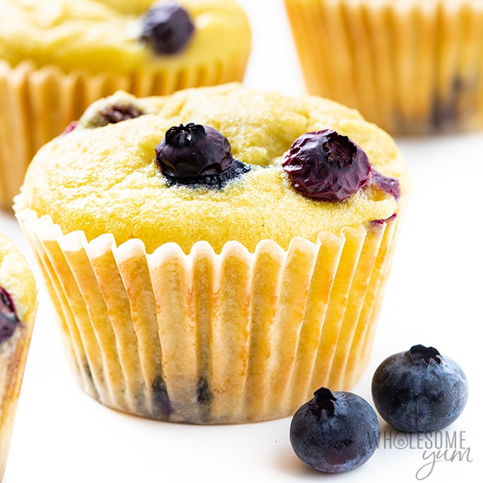 This low carb keto coconut flour muffins recipe is simple and delicious! See how to make coconut flour blueberry muffins in just 30 minutes, for easy desserts, breakfasts, or snacks.