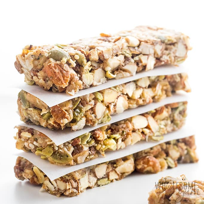 Sugar-free Keto Low Carb Granola Bars