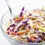 Paleo Low Carb Coleslaw (Sugar-free, Gluten-free) - 5 Ingredients