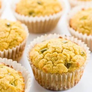 Paleo Cornbread Muffins (Coconut Flour Muffins) with Jalapeños