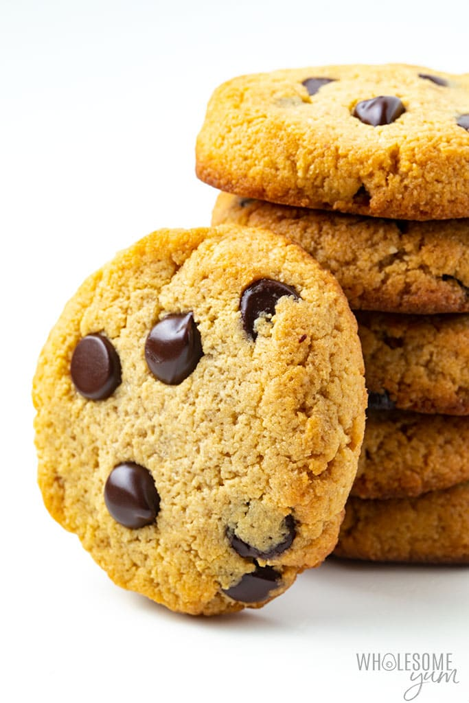 Low Carb Keto Chocolate Chip Cookies Recipe Soft Chewy Wholesome Yum