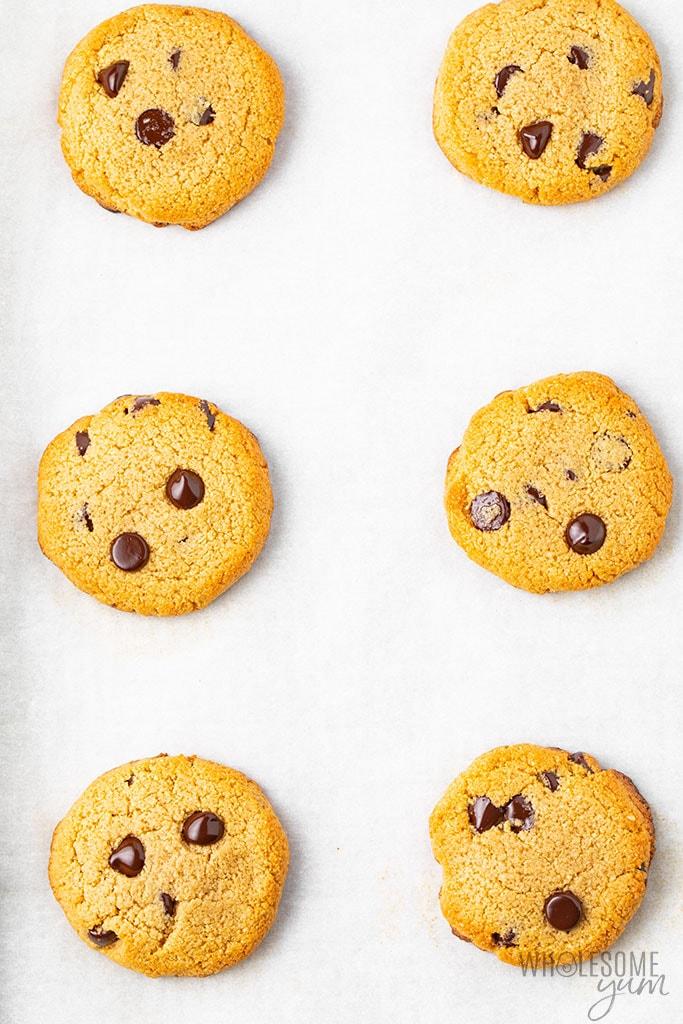 Keto chocolate chip cookie recipe before baking