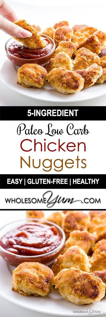 This paleo, low carb chicken nuggets recipe is easy to prepare with ...