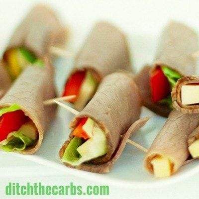 12 best low carb snacks on the go keto gluten free sugar free cold meat wraps from ditch the carbs a simple bread free sandwich wrap that takes seconds to make forumfinder Choice Image