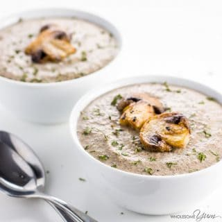 Gluten-free Cream of Mushroom Soup (Low Carb, Keto)