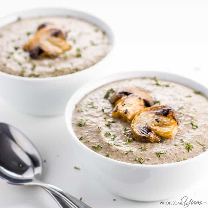 Gluten Free Cream Of Mushroom Soup Recipe Low Carb 7 Ingredients
