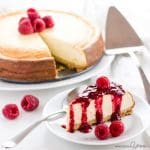A gluten-free, low carb cheesecake recipe that's EASY to make with only 8 ingredients and 10 minutes prep time. This sugar-free keto cheesecake tastes just like the real thing - delicious!