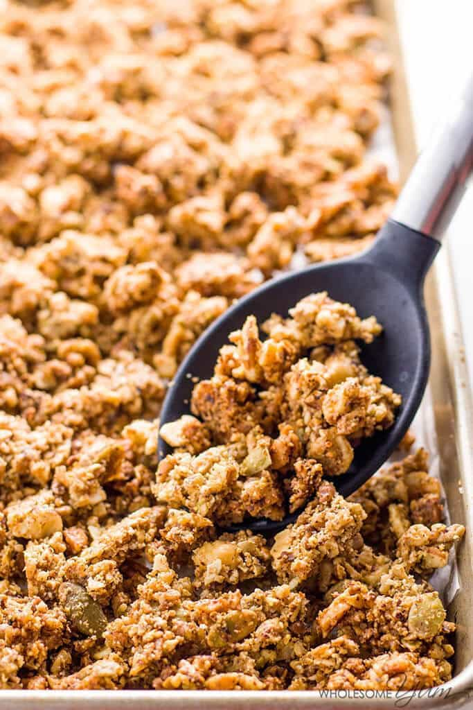 KETO PALEO LOW CARB GRANOLA CEREAL RECIPE – SUGAR FREE