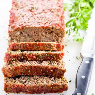 Low Carb Meatloaf (Paleo, Gluten-free)