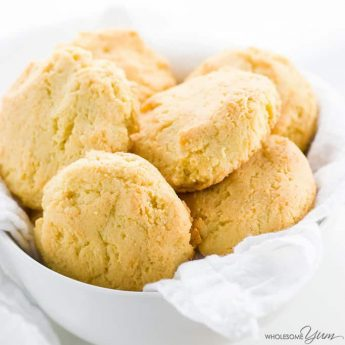 This paleo almond flour biscuits recipe requires just 4 common ingredients and 10 minutes prep time! Low carb, gluten-free, and buttery delicious. Detail: paleo-almond-flour-biscuits-low-carb-gluten-free-1