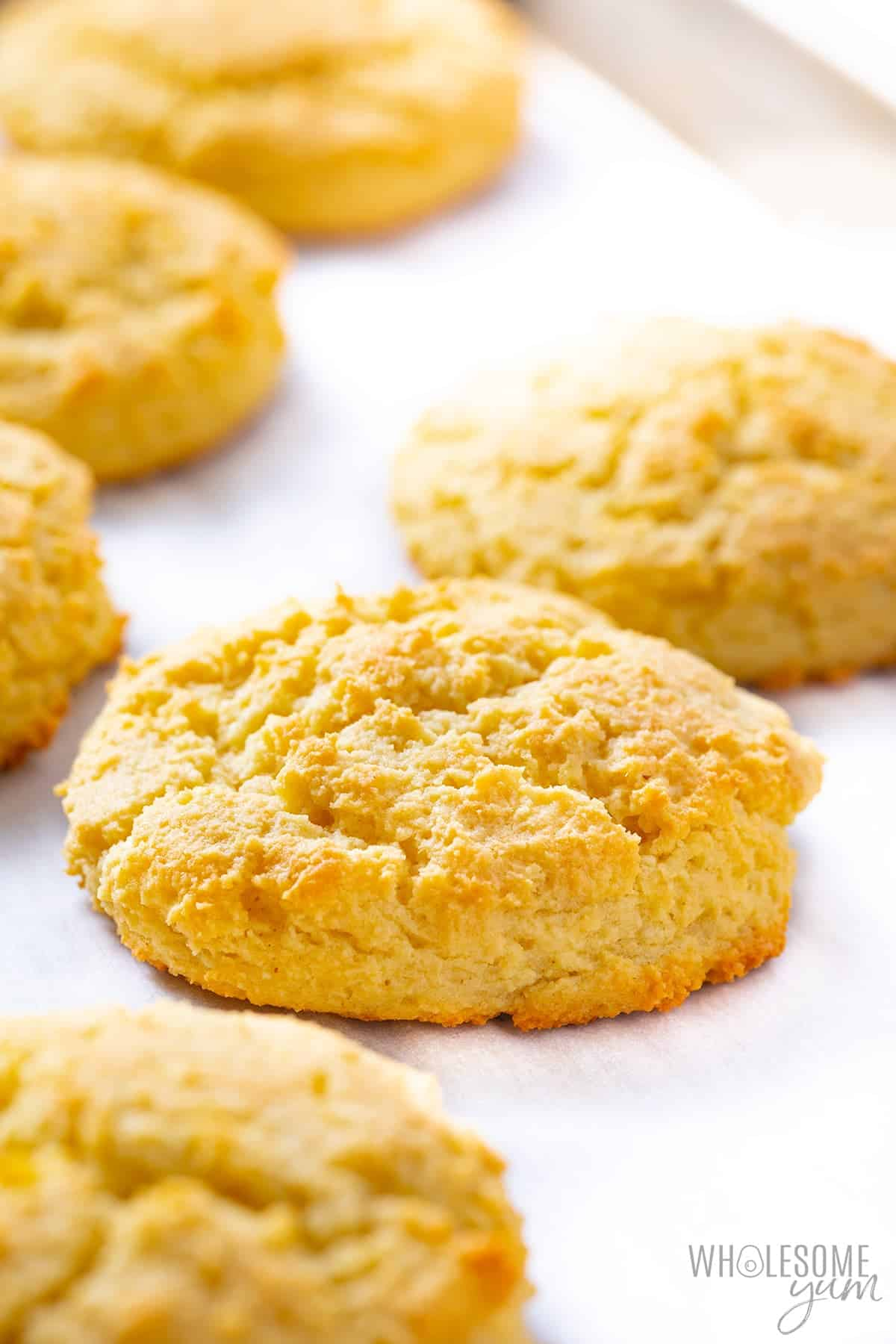 Finished keto biscuits with almond flour