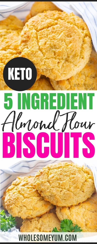 Keto almond flour biscuit recipe pin