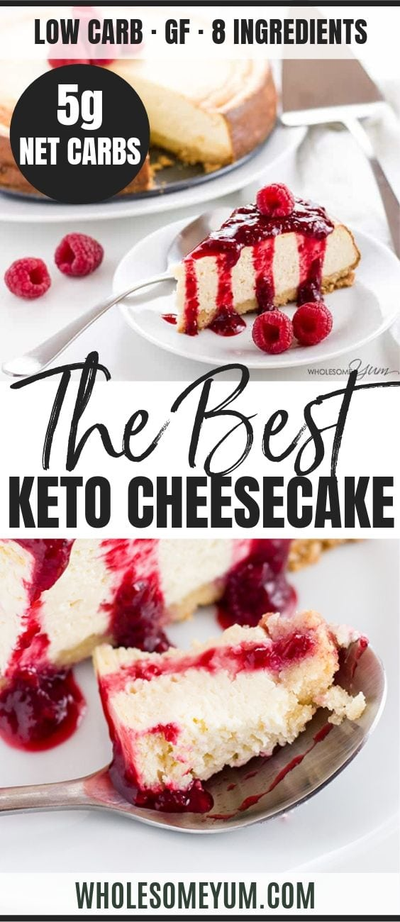 Low Carb Cheesecake Recipe - Sugar-Free Keto Cheesecake