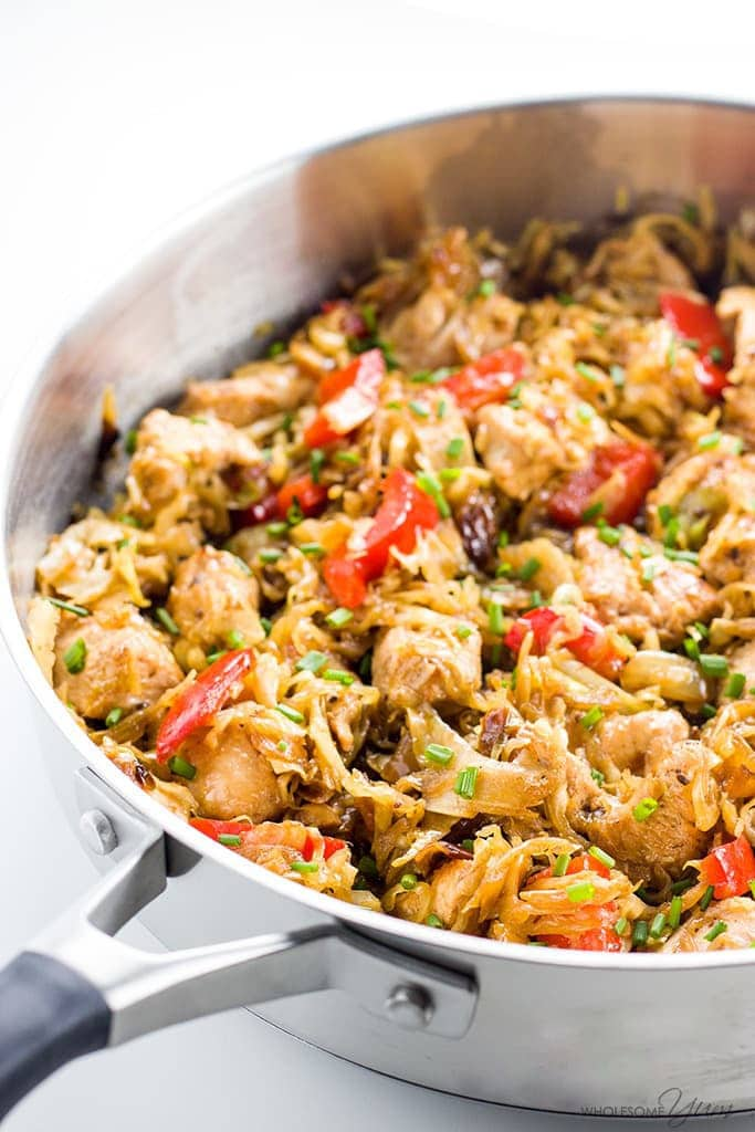 Chicken Cabbage Stir Fry (Paleo, Low Carb, Gluten-free)