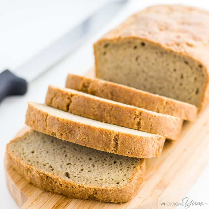 Easy Low Carb Bread Recipe - Almond Flour Bread (Paleo, Gluten-free)