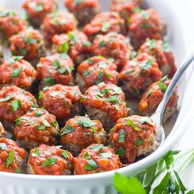 Low Carb Meatballs - Italian Style (Keto, Gluten-free, Nut-free)