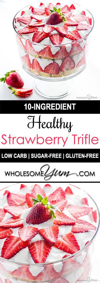 Strawberry Trifle Recipe (Low Carb, Sugar-free, Gluten-free)
