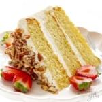 Slice of keto birthday cake