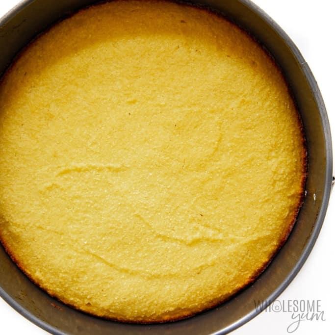Sugar free cake in springform pan
