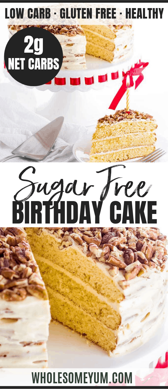 Marvelous Vanilla Gluten Free Keto Birthday Cake Recipe Sugar Free Video Birthday Cards Printable Benkemecafe Filternl