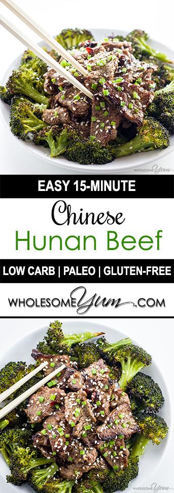 Hunan Beef Recipe - 15 Minutes (Paleo, Low Carb, Gluten-free)