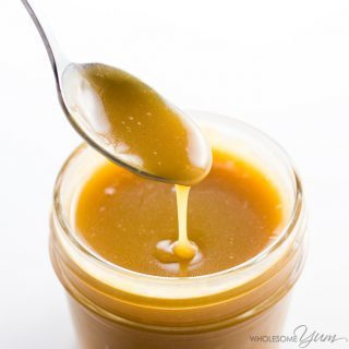 Sugar-free Caramel Sauce – 4 Ingredients (Low Carb, Keto)