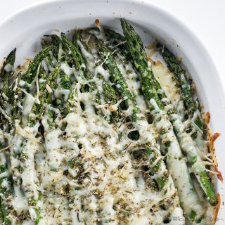 Cheesy Asparagus – 5 Ingredients (Low Carb, Gluten-free)