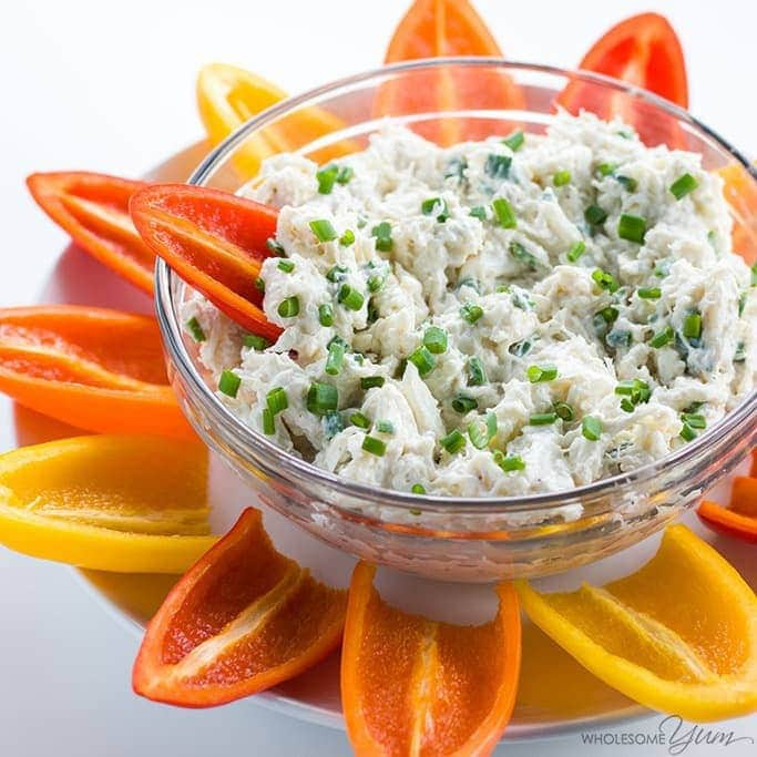Cold Crab Dip Recipe with Cream Cheese (Low Carb, Gluten-free)