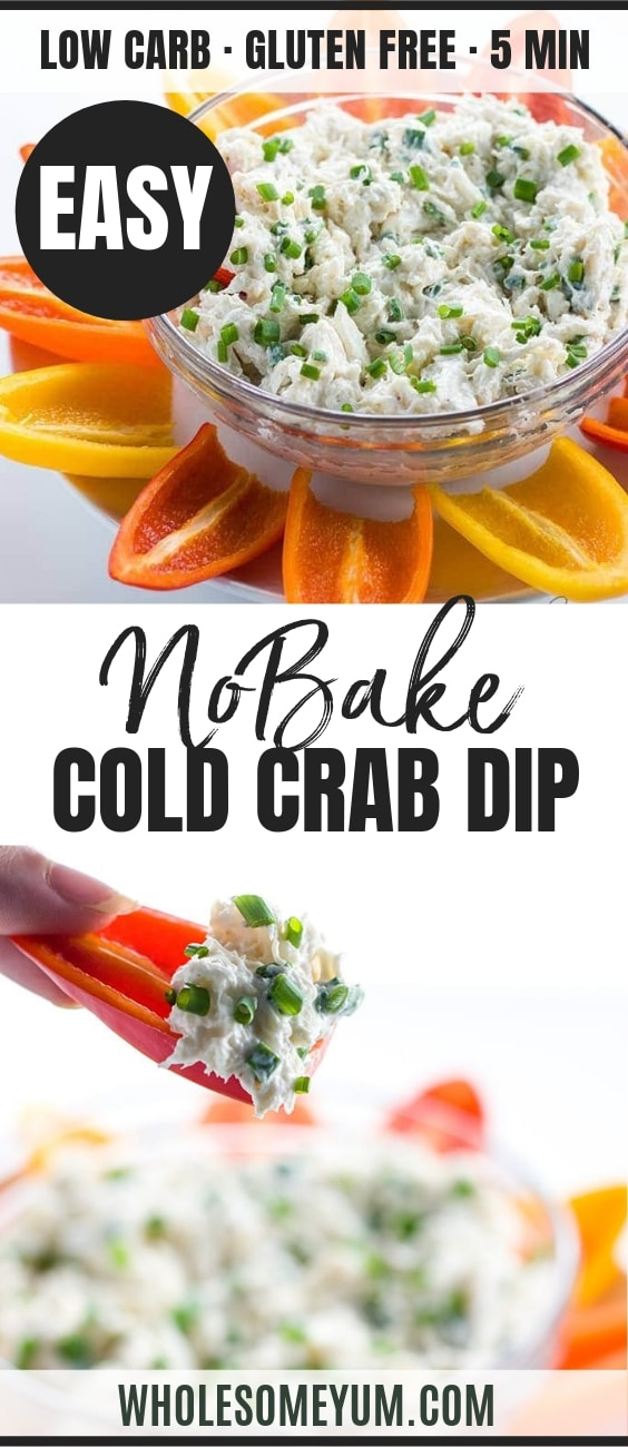 Cold Crab Dip Recipe - Pinterest image