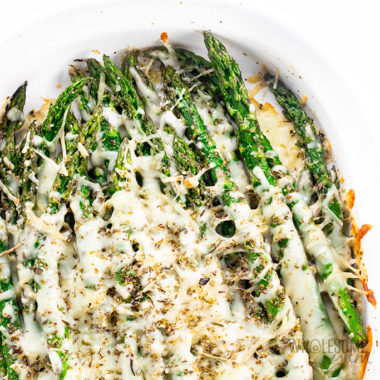 Keto Baked Cheesy Asparagus Recipe