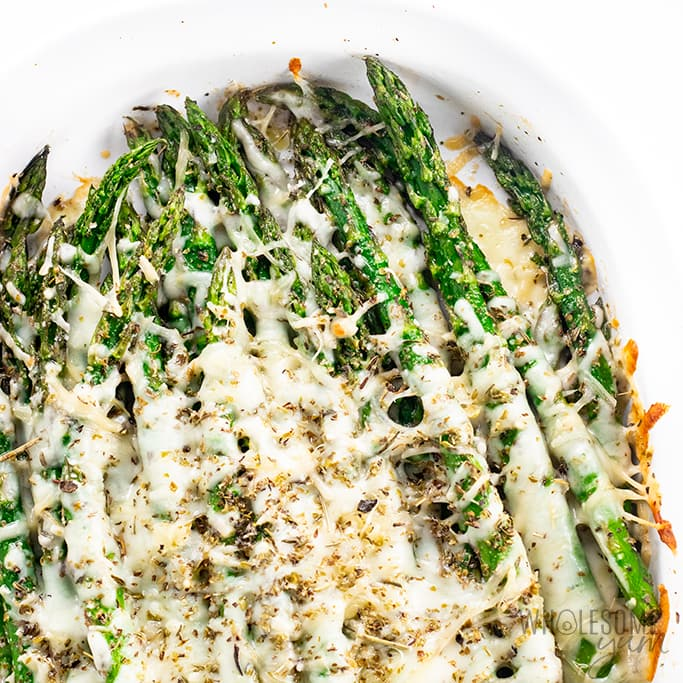 Keto Cheesy Asparagus Recipe 5 Ingredients Wholesome Yum
