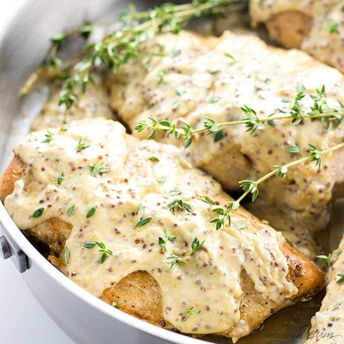Pan Seared Chicken Breast Recipe with Mustard Cream Sauce (Low Carb,  Gluten,free)