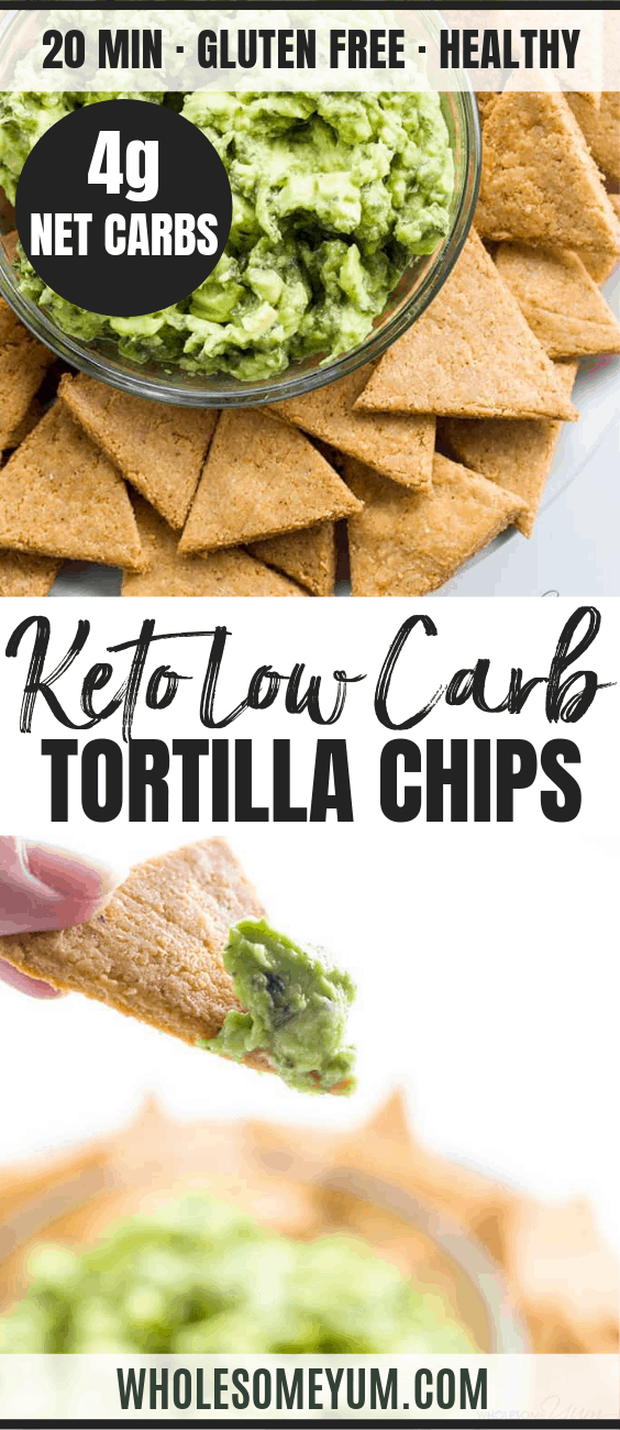 Keto Low Carb Tortilla Chips - Pinterest image