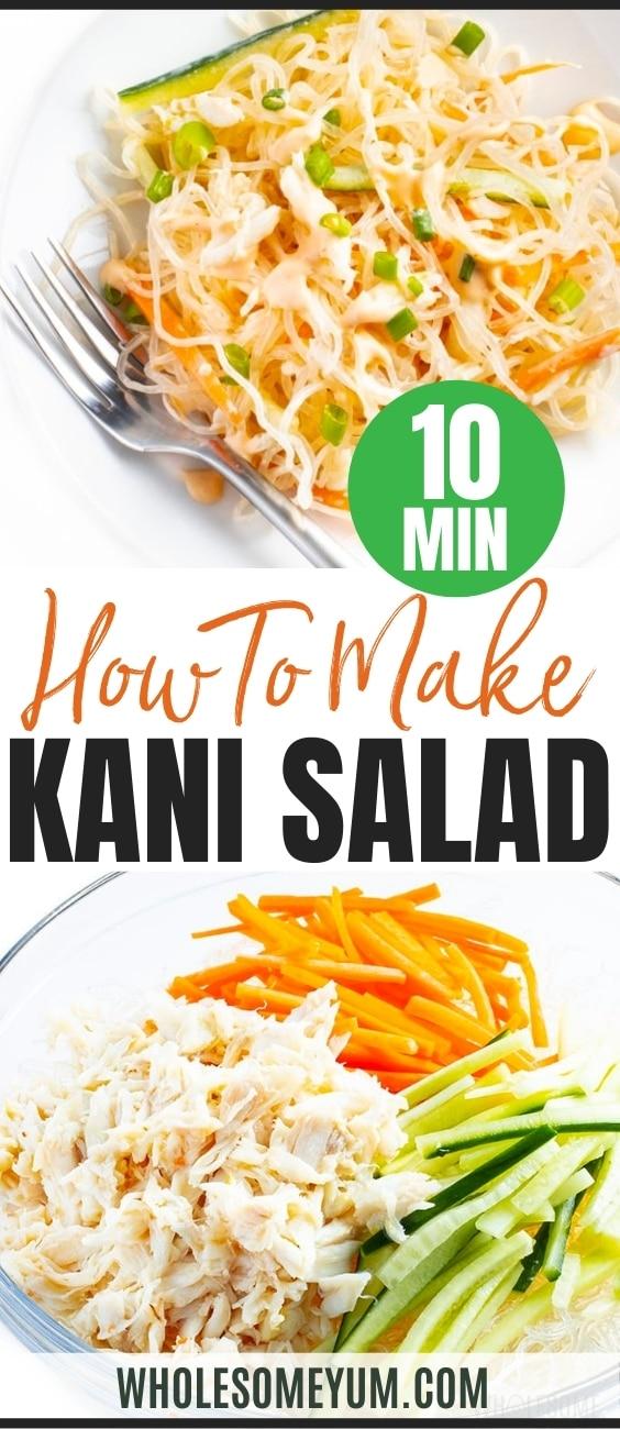 Japanese kani salad recipe pin