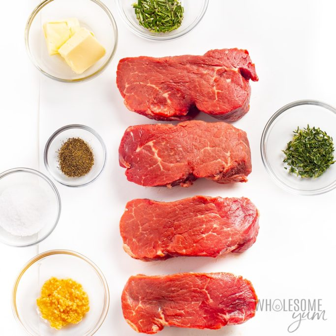 Ingredients for the best way to cook filet mignon