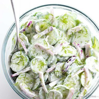 The Best Creamy Cucumber Salad Recipe With Sour Cream And Dill