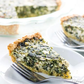 This Greek spinach pie recipe is rich and cheesy, but unbelievably low carb & gluten-free. It's a healthy, easy spinach feta pie you'll make over and over! Detail: greek-spinach-pie-recipe-low-carb-gluten-free-img_3594