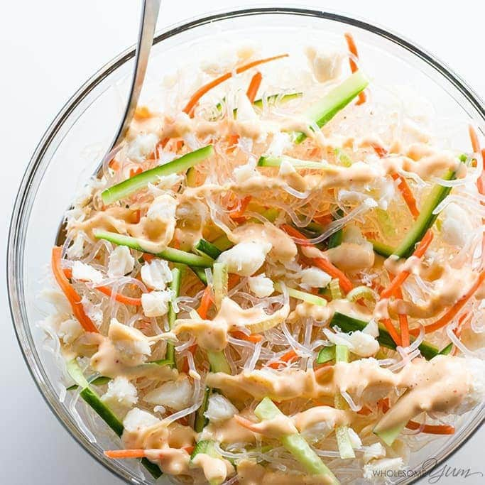 86de0d9e9820 ... low carb recipe! This Japanese kani salad recipe with real crab meat  takes just 10 minutes to whip up