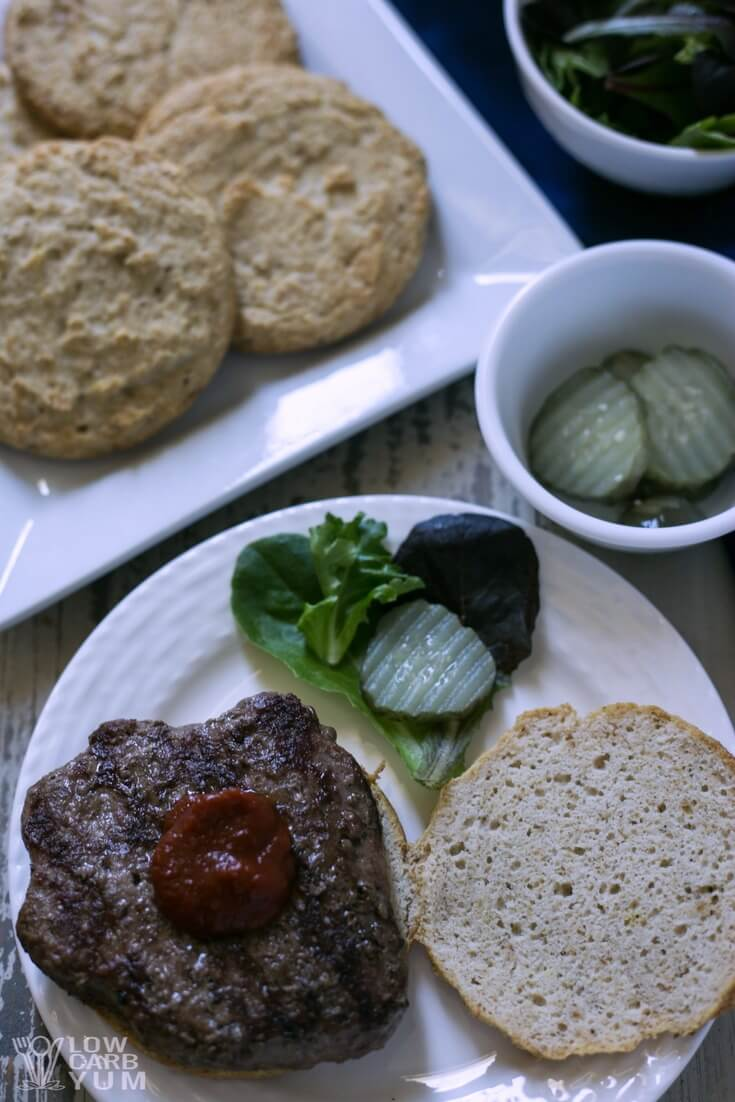 Low Carb Hamburger Buns Recipe (Keto, Paleo) - There's no need to settle for a bun-less burger on a keto diet. It's easy to make your own low carb hamburger buns for all your summer cookouts!