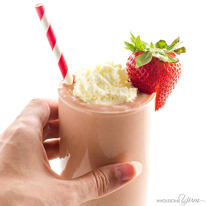 Strawberry Avocado Keto Smoothie Recipe With Almond Milk