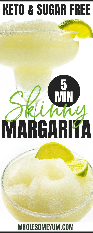 Skinny margarita recipe pin
