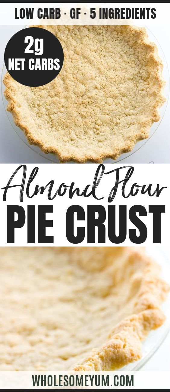 Low Carb Paleo Almond Flour Pie Crust - Pinterest image