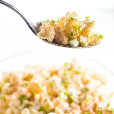 Cauliflower Potato Salad Recipe (Low Carb Paleo Potato Salad)