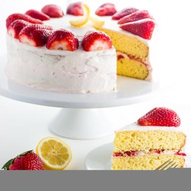 Strawberry Lemonade Cake Recipe (Low Carb, Gluten-free, Sugar-free)