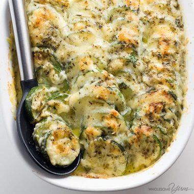 Baked Easy Cheesy Zucchini Casserole Recipe (Zucchini Gratin)